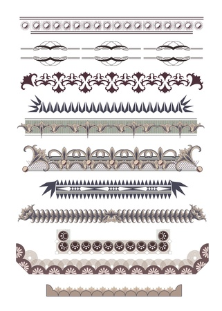 Set of Vintage Borders Stock Vector - 17604478