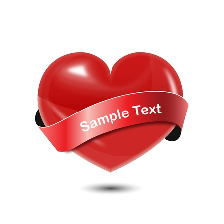 strip shirt: Heart with Ribbon Illustration