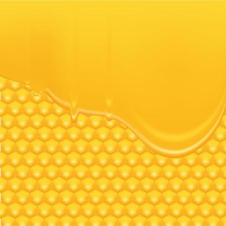 honeyed: Honey Background 2 Illustration