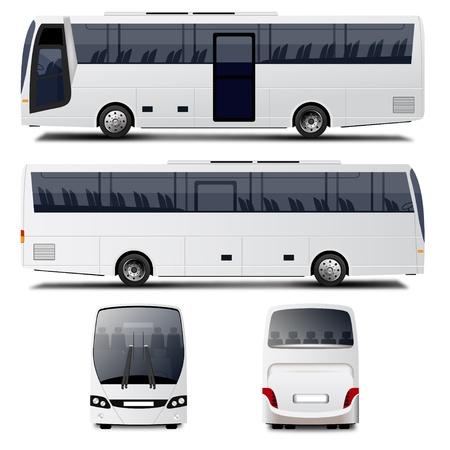 Autobus Wektor Ilustracje wektorowe