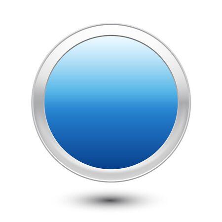 Empty Button Stock Vector - 18373591