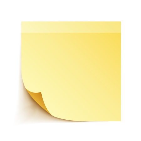 tack: Yellow Stick Note Paper