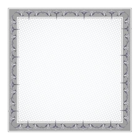 diplomas: Blank Diploma Frame Template  Illustration