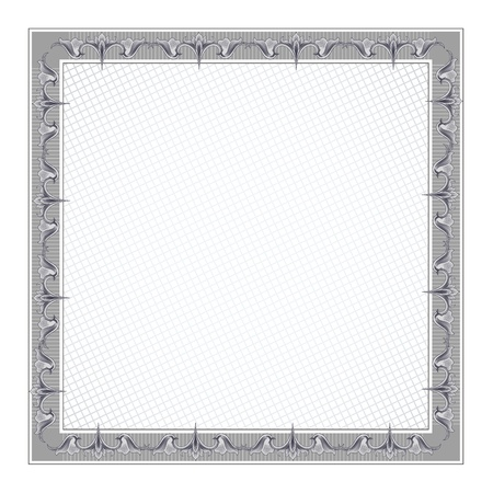 stock certificate: Diploma en blanco Plantilla del marco