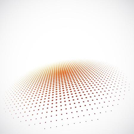 3D Halftone Achtergrond Stock Illustratie