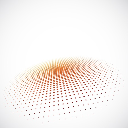 3D Halftone Background Stock Vector - 18513774