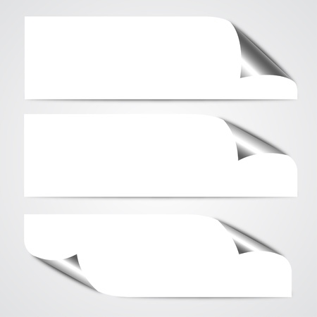 paper curl: Paper Curl Banners