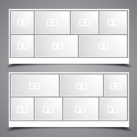 photo frame corner: Photo Collage Frames Illustration