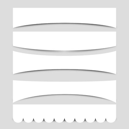 Set of Banner Shapes Vector