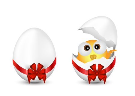 Easter Eggs and Chicken Vector