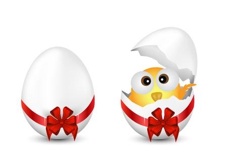 poult: Huevos de Pascua y el pollo Vectores