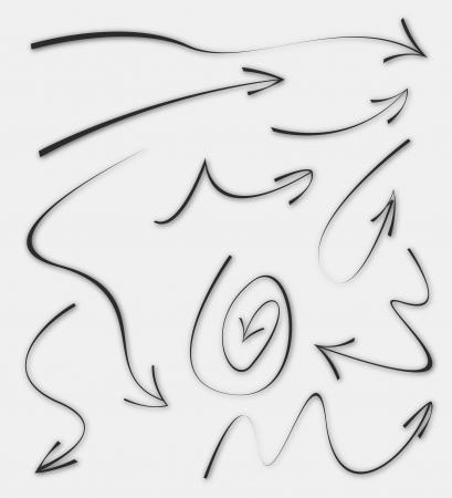 indexes: Doodle Sketch Arrows  Illustration