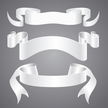 curved ribbon: White Paper Ribbons