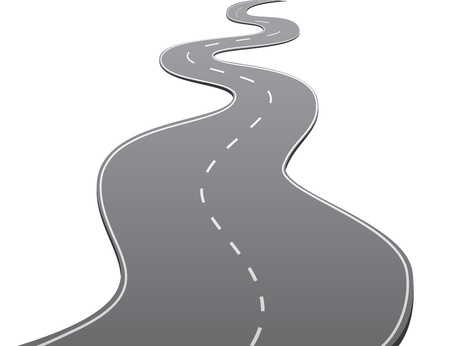 winding road: Twisty Road Illustration