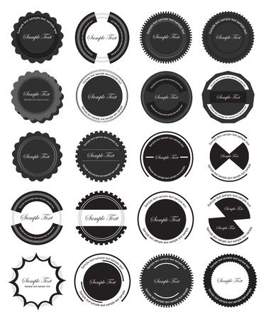 Vintage Labels Vettoriali