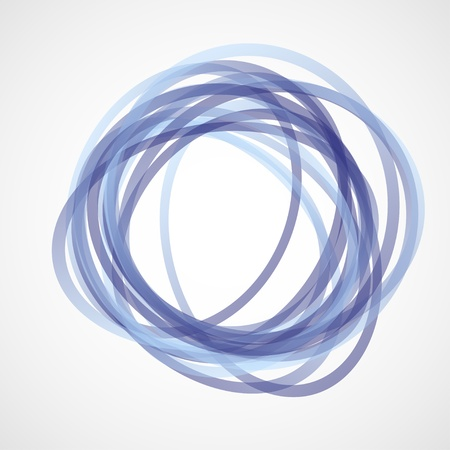 trend: Blue Circles Illustration