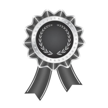 ribbon award: Gray Award Ribbon
