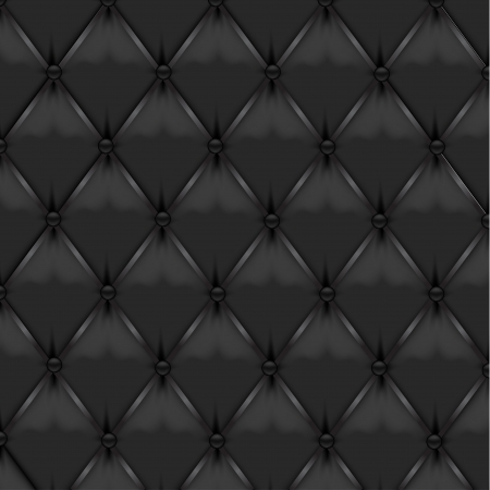 leather couch: Black Leather Upholstery