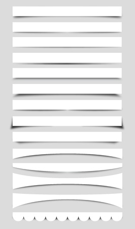 web side: Collection of Vector Box Shadows