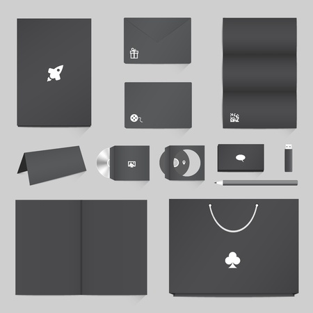 workpiece: Corporate Identity Mockup Templates Illustration