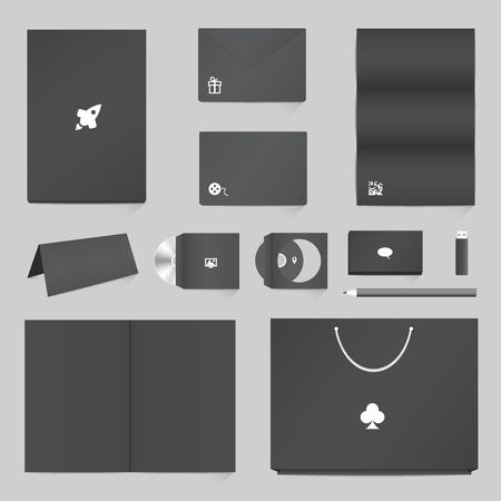 workpiece: Corporate Identity Mockup Templates Illustration