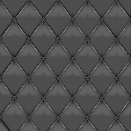 button tufted: Gray Leather Upholstery Illustration