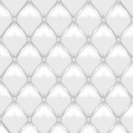 tufted: White Leather Upholstery