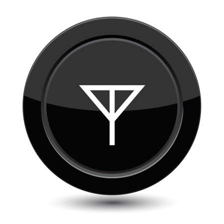 Button with glass of cocktail Vector