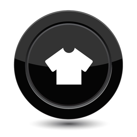 t off: Button with T-shirt Illustration