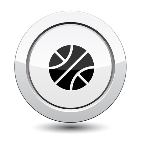 Button with Basketball sport icon Stock Vector - 21771977