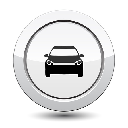 Button with car icon Vector