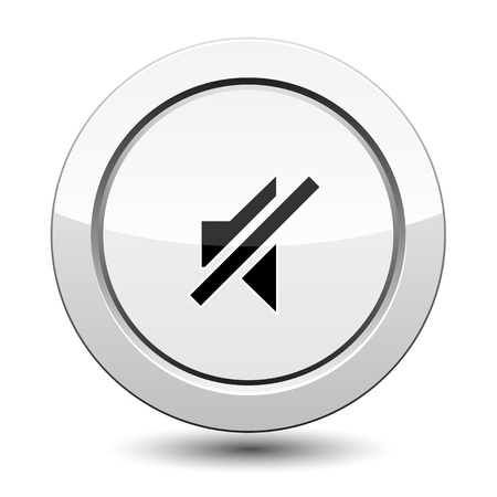 sound off: Button with sound off