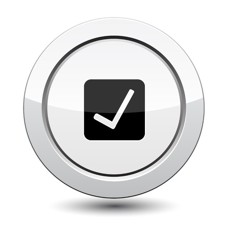 affirm: Button with Ok sign vector Illustration