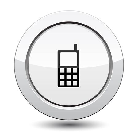 Button with Phone Icon Stock Vector - 21772007