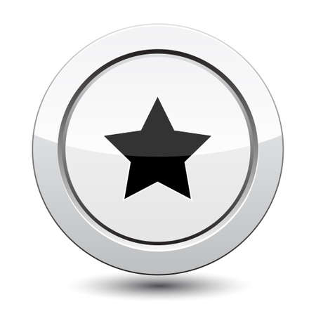 silver star: Button with Star Icon