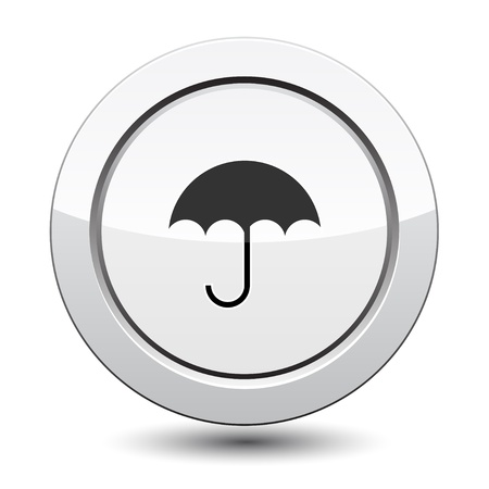Button with Umbrella Icon Stock Vector - 21772025