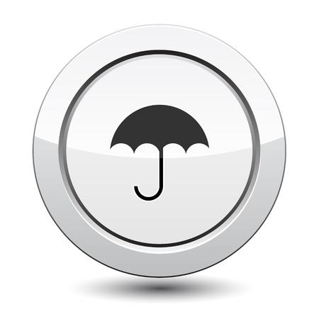 Button with Umbrella Icon Stock Vector - 21772025