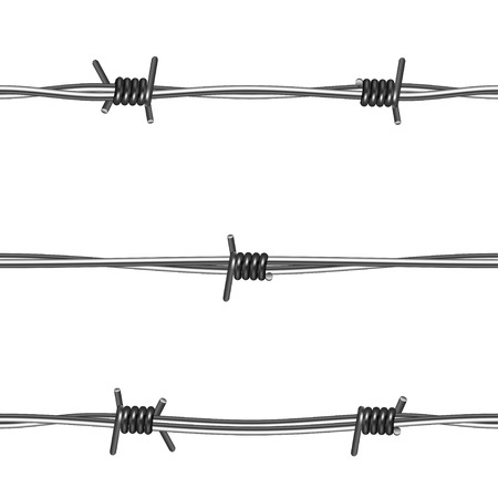 barbed wires: Alambres de p�as