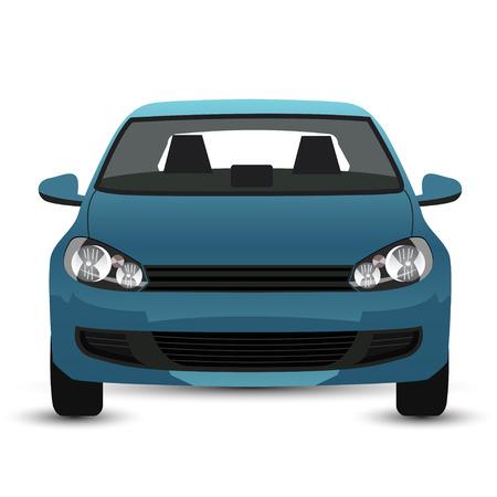 Blue Car - front view
