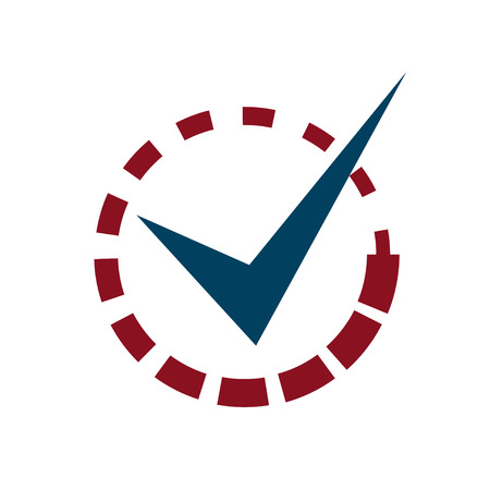 tick mark: Marque Marque con carga Entrar Vectores