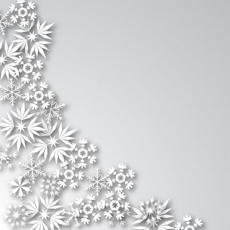 spangles: White Background with Snowflakes