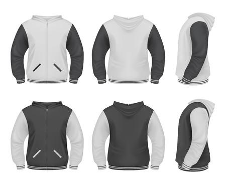 zipper hooded sweatshirt: Mens Sweater with zipper and hoddie