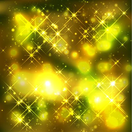 gleam: Gold Christmas Background