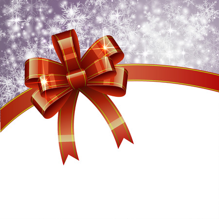 blue bow: Christmas Background with Bow