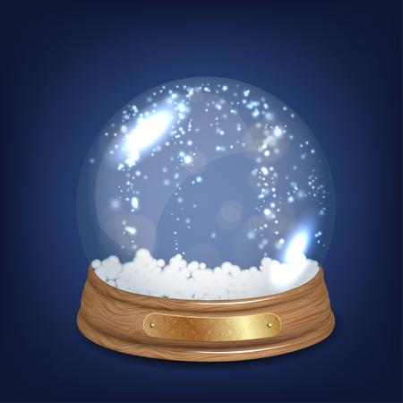 Empty Snowglobe Vector