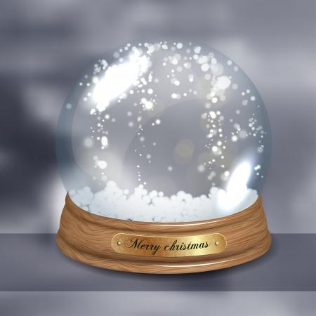 magic ball: Empty Snow dome