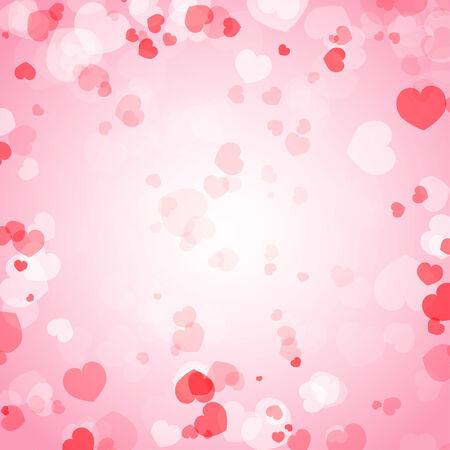 valentine s day: Valentine s Day Background with Hearts