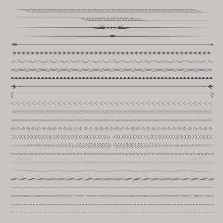 Set of Vector Dividers or Seperators for page design Vector