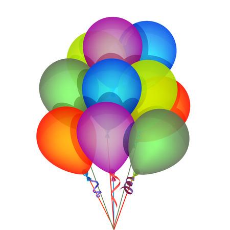 globos de fiesta: Globos multicolores del partido