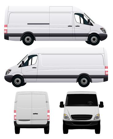Wit Commercial Vehicle - Van nr. 2 Stock Illustratie